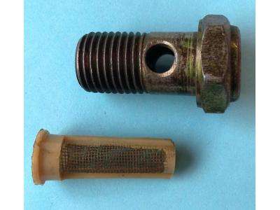 Болт пустотелый М14 с фильтр-сеткой (штуцер топливный) H HOWO (ХОВО) 90003962612 фото 1 Чебоксары